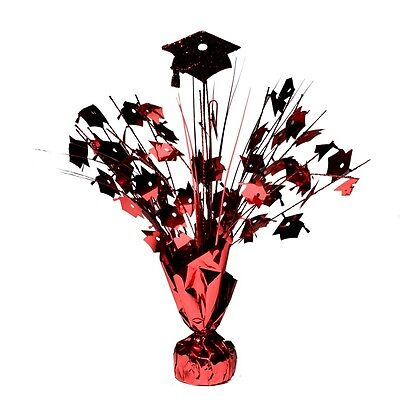 Red Graduation Cap Centerpieces - Graduation Cap Centerpieces