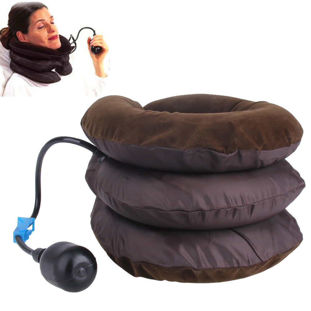 Air Inflatable Pillow Neck Traction Headache Back Soft Brace