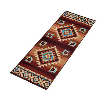 Colorful Southwest Aztec Print, Skid-Resistant Rug