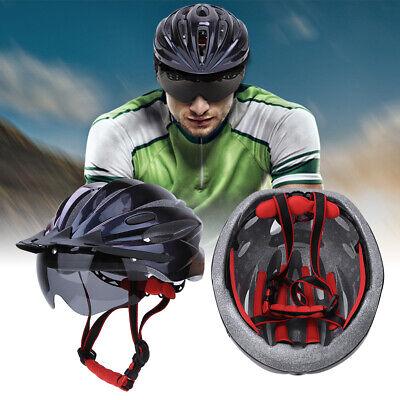 Casco de ciclismo ajustable Casco de bicicleta de carretera MTB con gafas...
