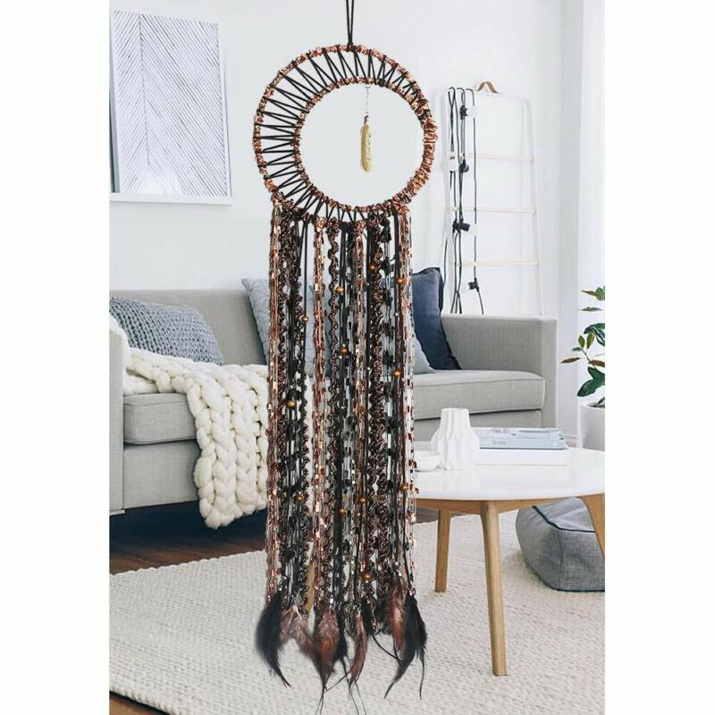 Hand Made Dream Catcher Gold Feather Pendant  Dream Catchers Wall Hanging