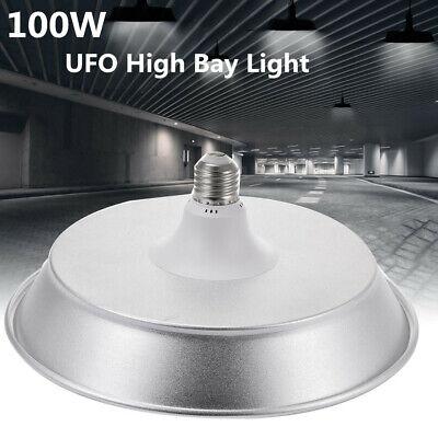 6X 100W LED High Bay Lights Super Bright E27 Socket Warehouse Industrial Fixture