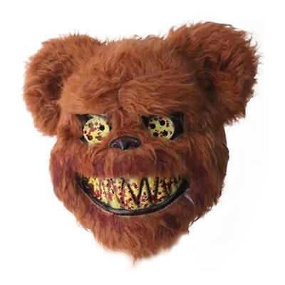Teddy Bear Halloween Mask ( Bloody Teddy Bear Mask Halloween Performance Props Halloween)