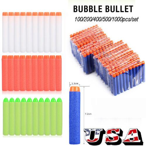 1000pcs For Nerf Elite Refill Kids Toy Gun Foam Bullet Darts