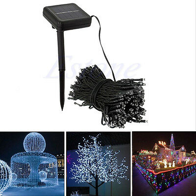 200 LED Outdoor Solar Powered String Light Garden Christmas Party Fairy Lamp 22M