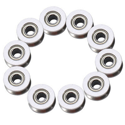 10pcs V624zz V Groove Ball Bearing Pulley For Rail Track Linear Motion 4136mm