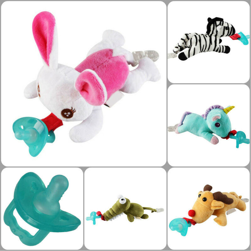 1Pc Infant Baby Boy Girl Silicone Pacifiers Cute Animal Baby Nipples New
