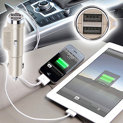 2 IN 1 Car Fresh Air Purifier Oxygen Bar Ozone Ionizer Air Cleaner Car Charger