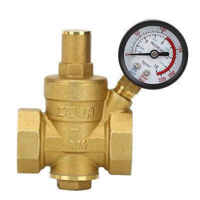 Dn25 1inch Adjustable Water Pressure Reducing Regulator Reducergauge Meter New