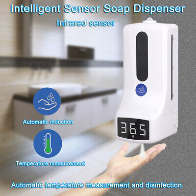 Wall-mounted Non-contact Digital Thermometer With 2-in-1 1000ml Soap Dispenser