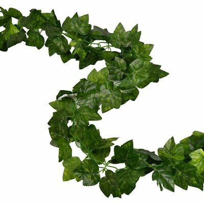 2 Pack 16 Ft Artificial Ivy Silk Fake Vines Hanging Wedding Garland Grape Leaves