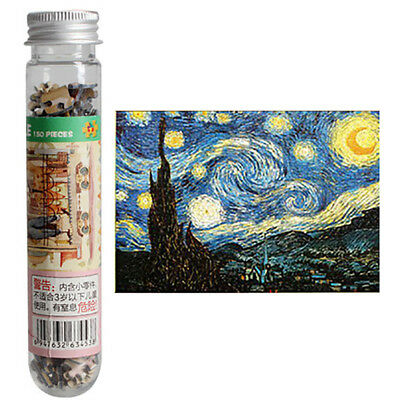 150 Pcs Mini Test Tube Puzzle Oil Painting Jigsaw Educational Toys Starry Sky