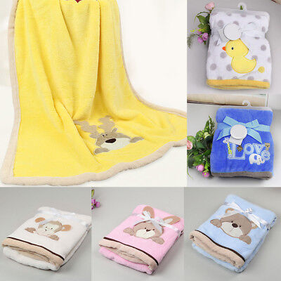 Baby Newborn Soft Plush Blanket Crib Basket Girl Boy Infant Rug Warm Cartoon new