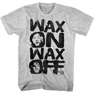 Karate Kid Daniel Mr Miyagi Painted Faces Men's T Shirt Wax On Wax Off Slogan - Face Off Kids T-shirt