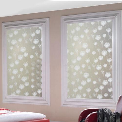 Diy Removable Frosted Dandelion Bathroom Window Glass Film Sticker Home Decor Ebay