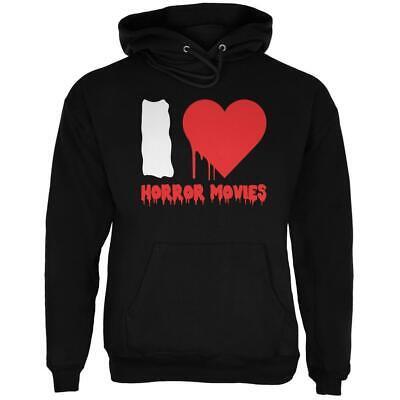 Halloween I Heart Horror Movies Black Adult Hoodie (Black Adult Movies)
