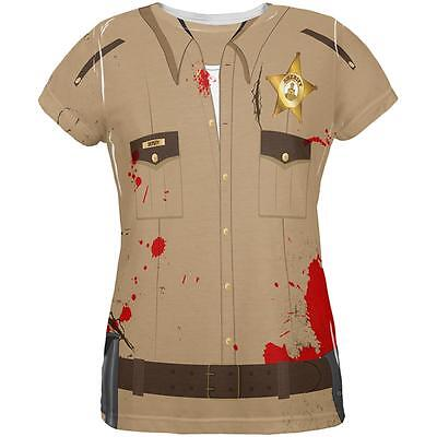 Halloween Zombie Grime Sheriff Walker All Over Womens T Shirt