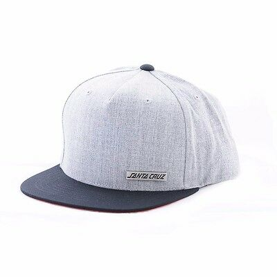 af33f30dec837 Santa Cruz SCS BLOCK STRIP BADGE Adjustable Snapback Skateboard Hat GREY  BLACK