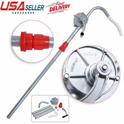 Manual Rotary Pump Hand Crank Aluminum Oil Fuel Transfer Drum Barrel 70rpm