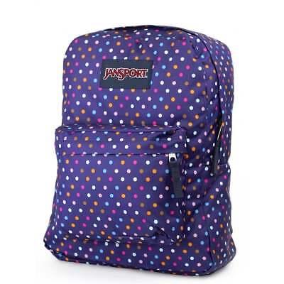 JANSPORT Superbreak Backpack - Purple Spot O Rama School bag JS00T50134A