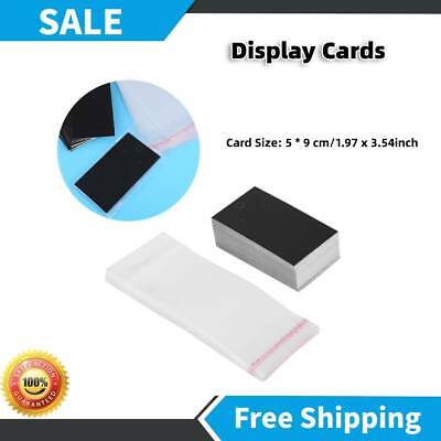 100pcsset Black Earring Display Cards With Self Adhesive Decoration Bags Craft