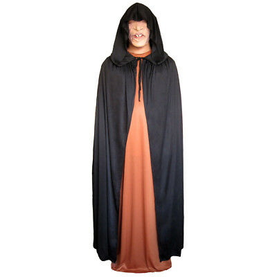 Black Cloak with Large Hood ~ HALLOWEEN VAMPIRE GOTHIC MEDIEVAL COSTUME CAPE](Black Cape With Hood)