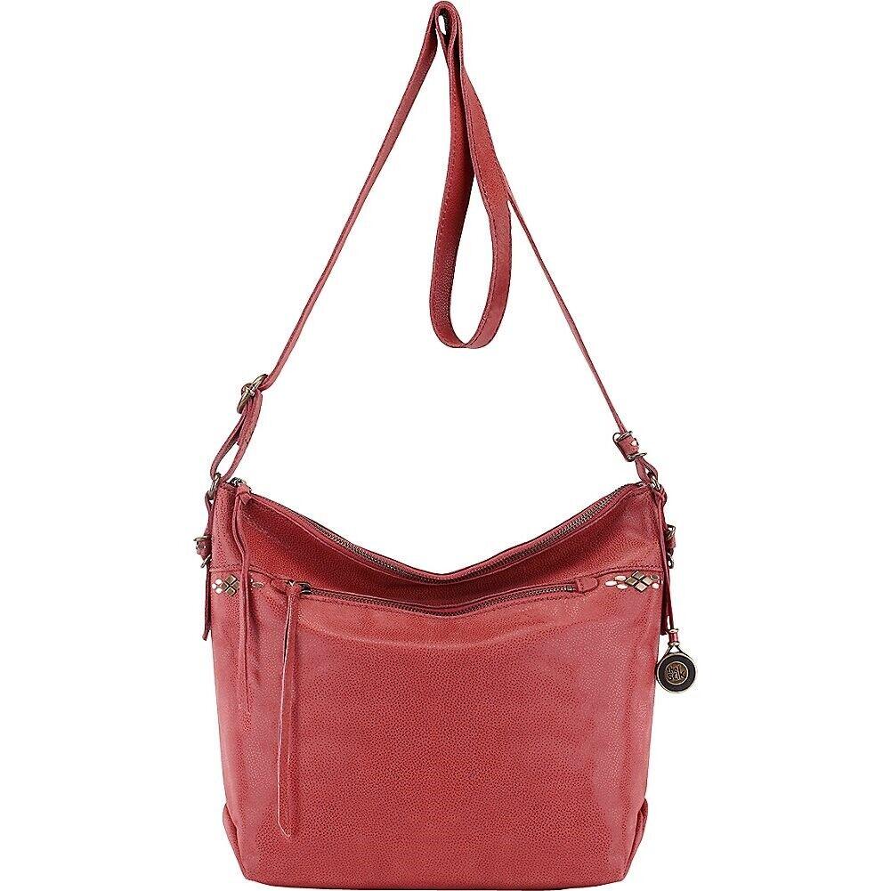 The Sak Women/'s Cabrillo Demi Crossbody Shoulder Brown Leather bag 151638
