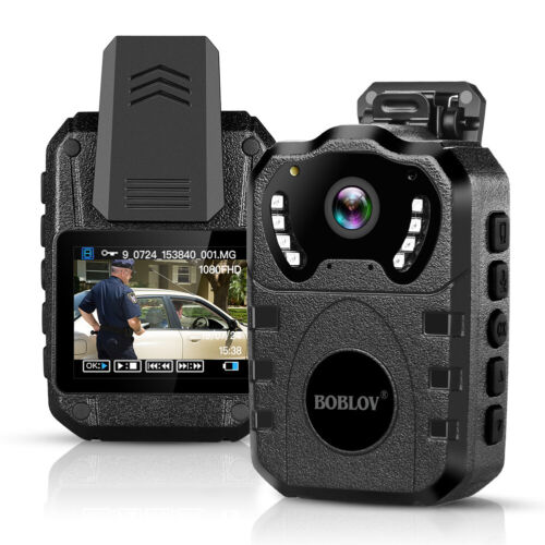 Boblov Police Body Worn Camera 1080P HD 32G Security Mini Video Camcorder DVR