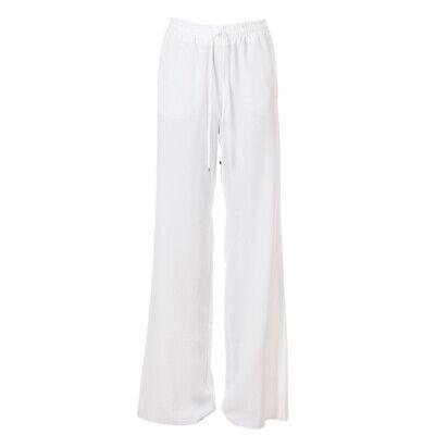 iBlues MAX MARA Trousers White Drawstring RRP £145 BG