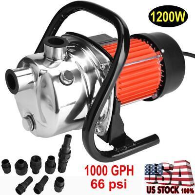 """1200W 1"""" Stainless Steel Water Booster Pump Home Garden Irri"""