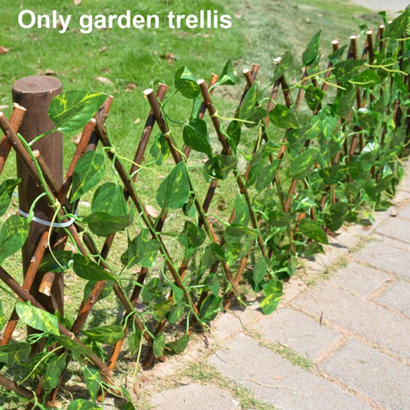 Expanding Green Willow Wall Foldable Trellis Fence Climbing Plants Garden Decor