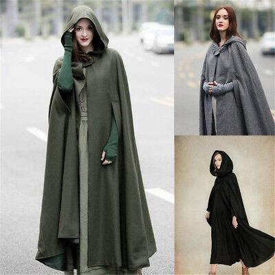 Long Cloak Cosplay Witch Halloween Cape Hooded Coat Costume (Halloween-cape)