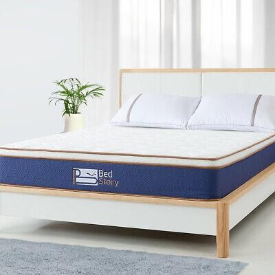 BedStory Queen Size Spring Foam Euro Top Mattress10 inch bed comfortable (Euro Queen Size Mattress)