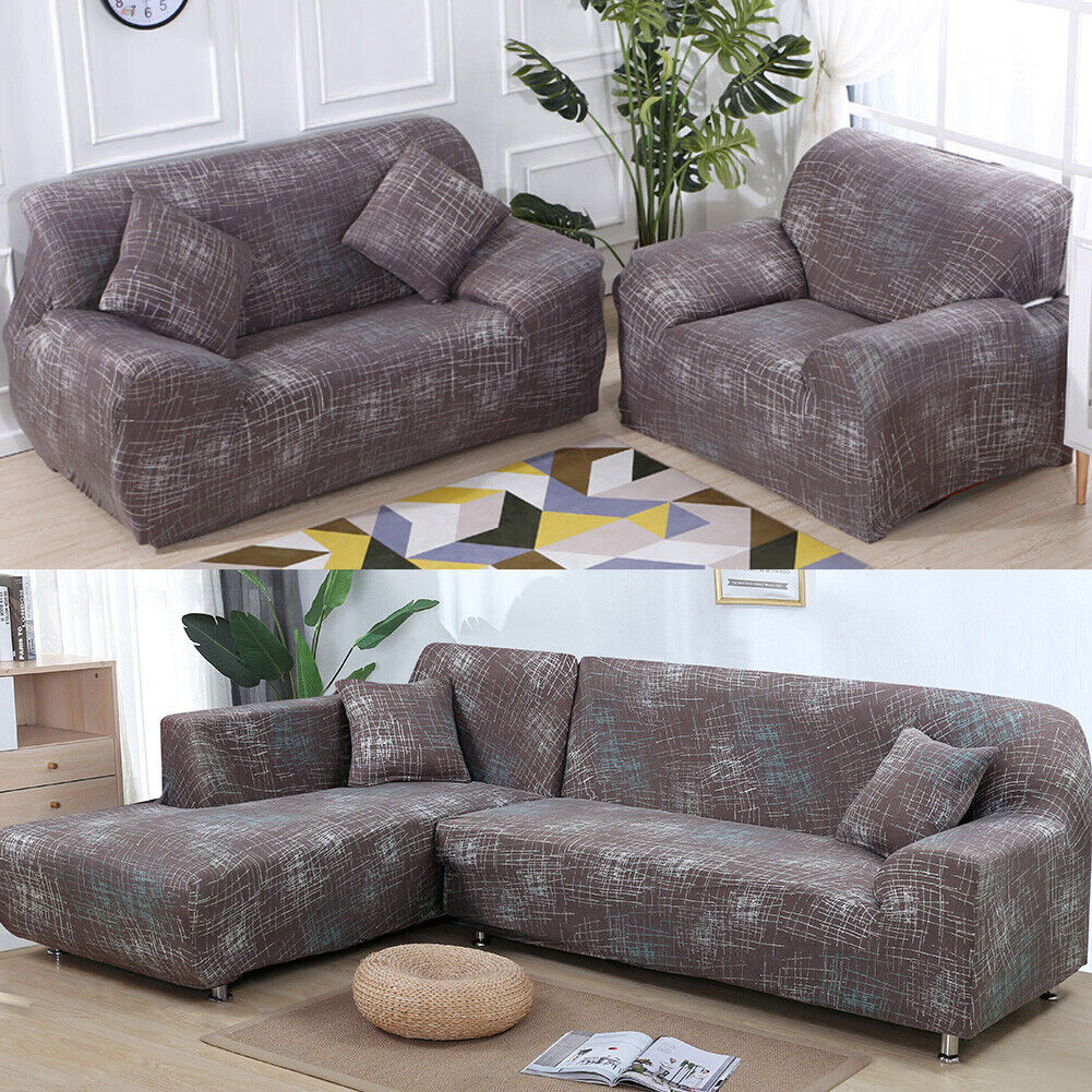 1 2 3 4 Seater Slipcover Stretch Cover Sofa Covers Protector