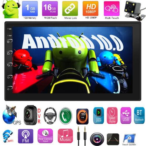 "Android 10.0 7""Car Stereo MP5 Player 2Din BT GPS Navi WIFI AUX USB FM Radio+Cam"