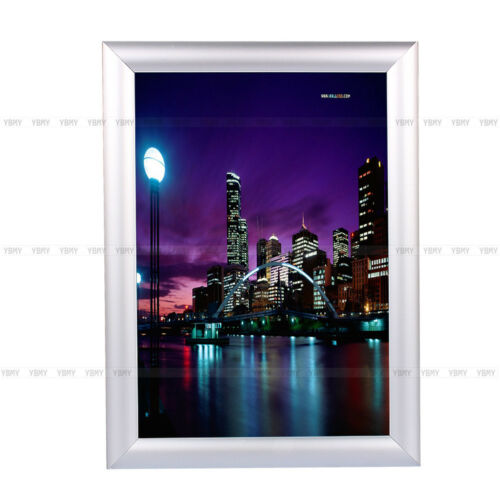 5Pack Silver A4 Snap Frames Poster Clip Holder Display Retail Wall ...