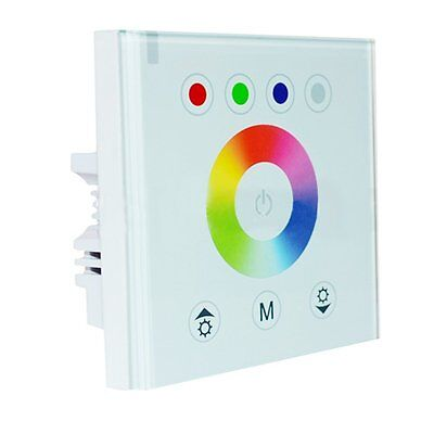 Wall Controller Glass Face Touch Panel 12V/24V For 5050 RGBW 5PIN flexible rgb+w Glass Touch Controls