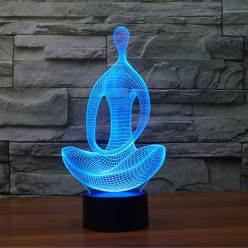3D Lamp Table Night Light LED Touch Control 7 Color Changing