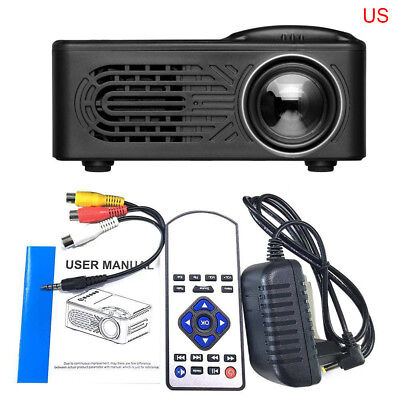 7000 Lumens 3D 1080P Full HD Mini Projector LED Multimedia Home Theater Beamer