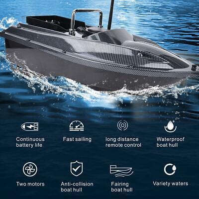 Goolsky Flytec V007 RC Barco Fish Finder Pesca Cebo Barco 1.5 kg Cargando 500 m Control Remoto de Velocidad Fija Motores Dobles 2 Bater/ías RC Barco Juguete para Adultos y Ni/ños