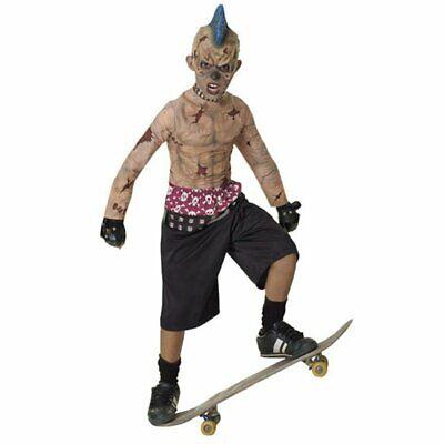 Zombie Skate Punk Costume (Boy - Child Medium 8-10) Halloween Fancy Dress NEW