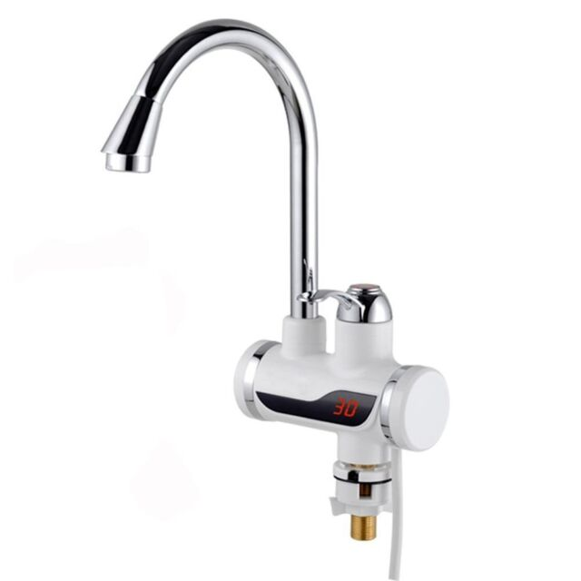 Electric Hot Water Faucet Kitchen Tap with Instant Water Heating, LED Display
