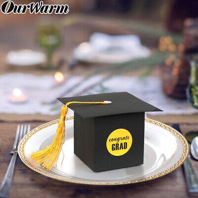 Graduation Cap Party Favors (36Pcs Graduation Candy Box Congrats Gard Grad Cap Sweet Gift Boxes Party)