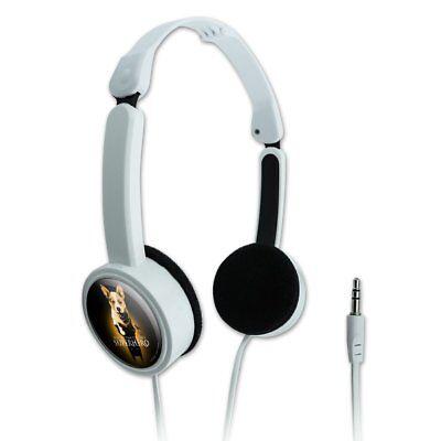 Superhero Dog Shadow Novelty Travel Portable On-Ear Foldable Headphones