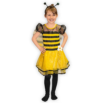 Kostüm Set Biene mit Haarreifen und Flügeln Fasching Karneval Kinder