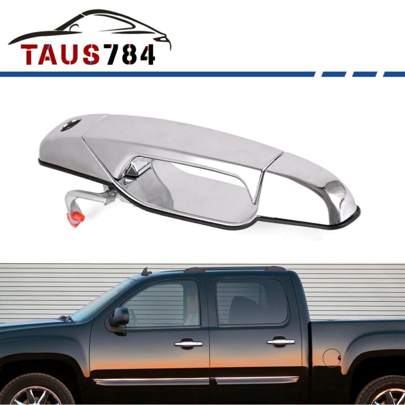 Chrome Outside Door Handle for 2007-2013 Chevy GMC Cadillac Front Driver Side LH
