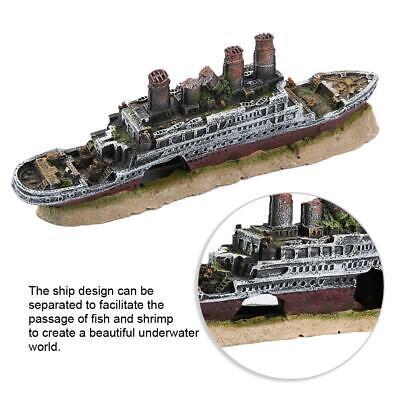 Titanic Lost Barco Decoración Adornos naufragio adornos para Acuarios Peces