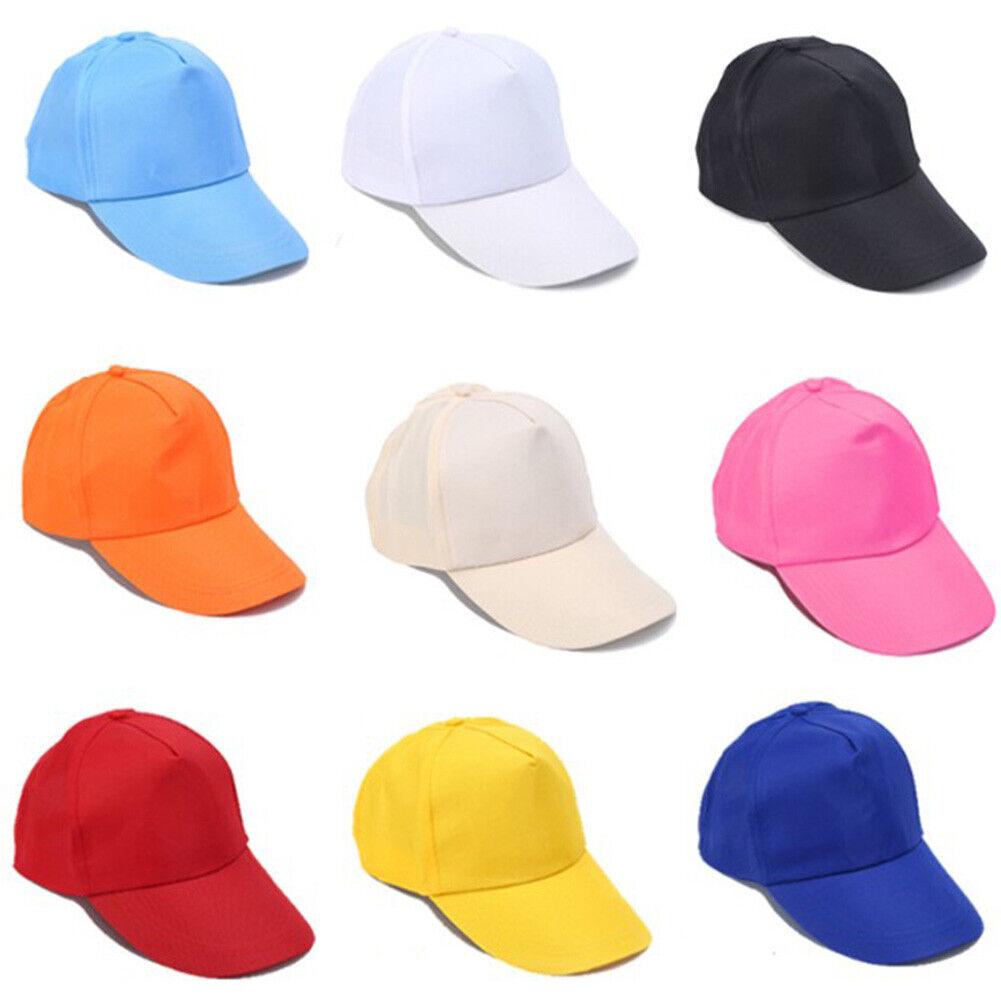 Womens Mens Adjustable Baseball Cap Solid Color Hip Hop Hats
