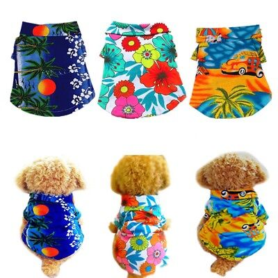 Summer Beach Small Dog Puppy Vest T-Shirt Pet Dog Cat Clothes Apparel Costumes (Doggy Costumes)