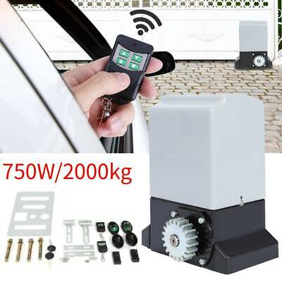 2000KG 750W Automatic Sliding Gate Opener Kit Electric Operator Remote Control
